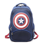 MARVEL COMICS Captain America: Civil War Unisex Shield Emblem Backpack, One Size, Blue/Red