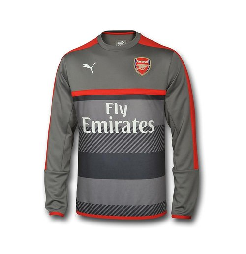 2016-2017 Arsenal Puma Training Sweat Top (Grey)