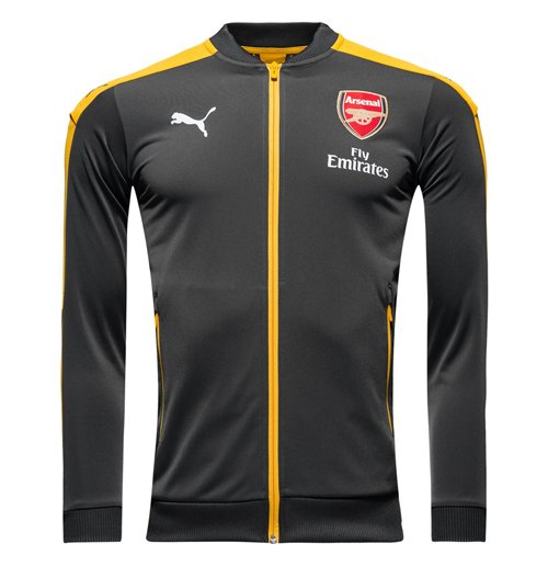 2016-2017 Arsenal Puma Stadium Jacket (Ebony) - Kids