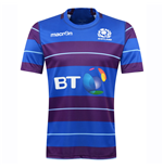 2016-2017 Scotland Macron Rugby Training Jersey (Blue)