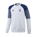 2016-2017 Real Madrid Adidas Sweat Top (White)