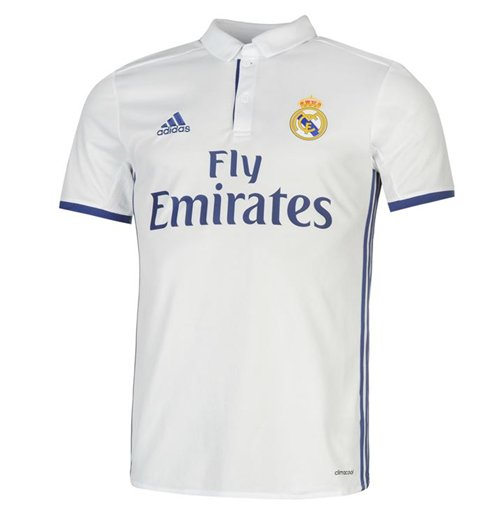 2016 2017 real madrid adidas home football shirt for only at merchandisingplaza uk. Black Bedroom Furniture Sets. Home Design Ideas