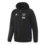 2016-2017 Man Utd Adidas Training Fleece Top (Black)