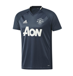 2016-2017 Man Utd Adidas Training Shirt (Mineral Blue)