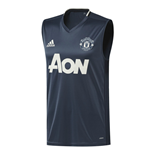 2016-2017 Man Utd Adidas Sleeveless Shirt (Mineral Blue)