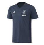 2016-2017 Man Utd Adidas Training Tee (Mineral Blue)