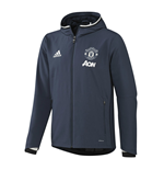 2016-2017 Man Utd Adidas Presentation Jacket (Mineral Blue)
