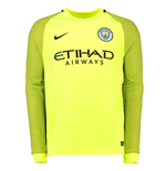 2016-2017 Man City Home Nike Goalkeeper Shirt (Volt) - Kids