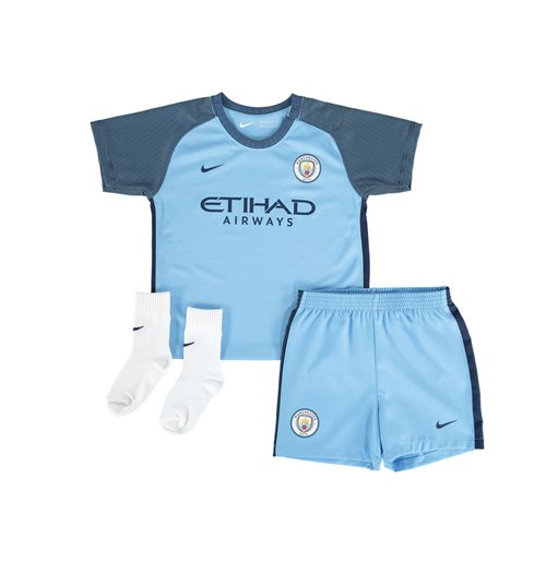 2016-2017 Man City Home Nike Baby Kit
