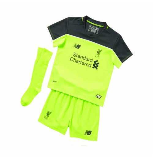 fa3d192c83a Buy Official 2016-2017 Liverpool Third Little Boys Mini Kit