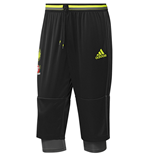 2016-2017 Chelsea Adidas Three Quarter Length Pants (Black)