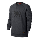 2016-2017 Barcelona Nike Authentic LS Crew Sweatshirt (Grey)