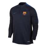 2016-2017 Barcelona Nike Drill Training Top (Navy)