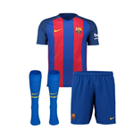 2016-2017 Barcelona Home Nike Little Boys Mini Kit