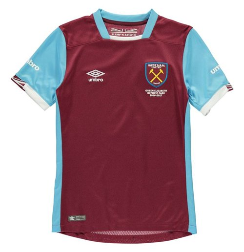 2016 2017 West Ham Home Football Shirt Kids For Only