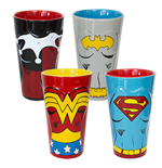DC Comics 4 Pack Molded Ceramic Hero Pints