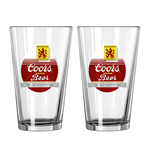 COORS Vintage Pint Glass Set