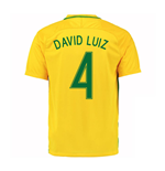 2016-17 Brazil Home Shirt (David Luiz 4)