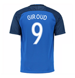 2016-17 France Home Shirt (Giroud 9) - Kids