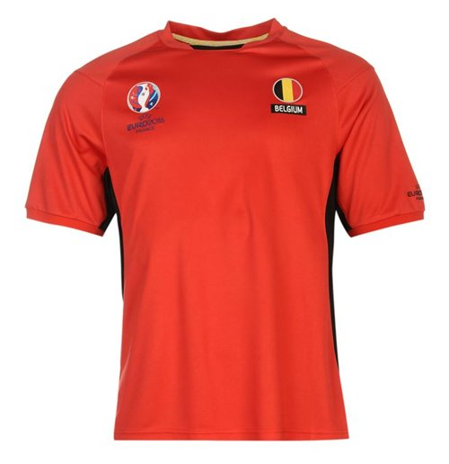 Belgium UEFA Euro 2016 Poly Training Tee (Red)
