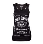 JACK DANIEL'S Woman's Old No.7 Brand Logo Tank Top, Small, Black