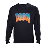 DOOM Men's Vintage Logo Sweater, Extra Extra Large, Black
