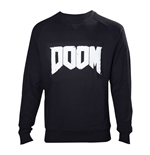 DOOM Men's Logo Sweater, Extra Extra Large, Black