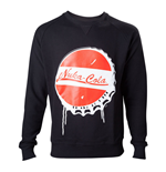 FALLOUT 4 Men's Nuka Cola Bottle Cap Sweater, Small, Black