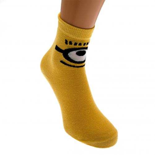 Minions Ladies Socks 1 Pack 6-8 YL
