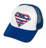 SUPERMAN Patriotic Trucker Hat
