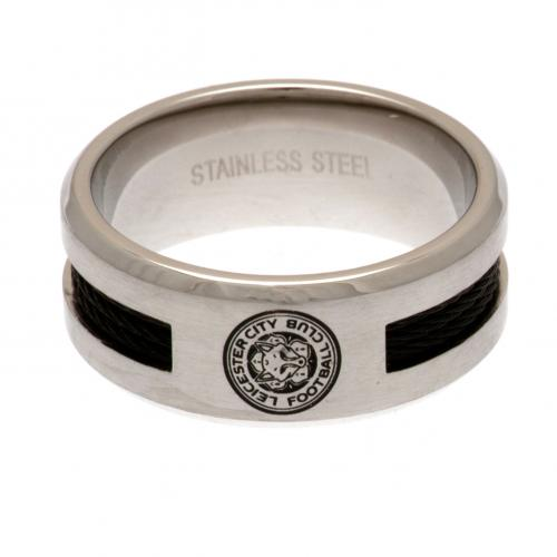 Leicester City F.C. Black Inlay Ring Medium