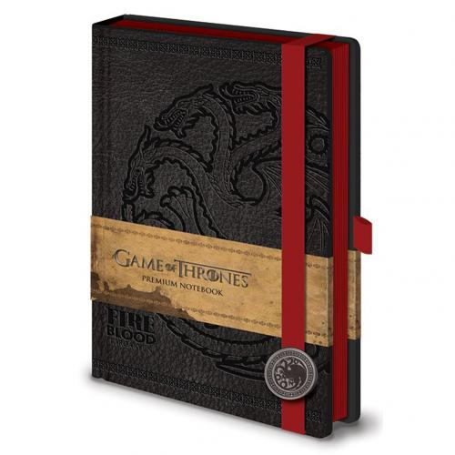 Game Of Thrones Premium A5 Notebook Targaryen