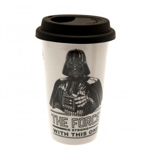 Official Star Wars Ceramic Travel Mug Darth Vader: Buy Online on Offer