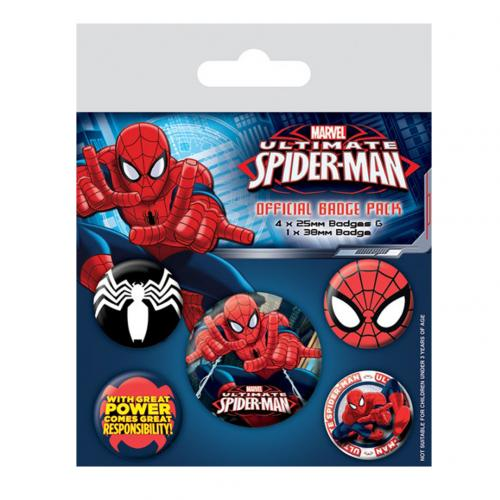 Spider-Man Button Badge Set