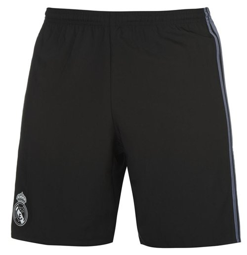 2016-2017 Real Madrid Adidas Third Shorts (Black) - Kids