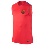 2016-2017 Barcelona Nike Sleeveless Training Shirt (Crimson)