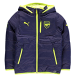 2016-2017 Arsenal Puma Reversible Jacket (Peacot Yellow) - Kids