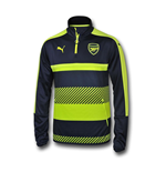 2016-2017 Arsenal Puma Half Zip Training Top (Peacot) - Kids