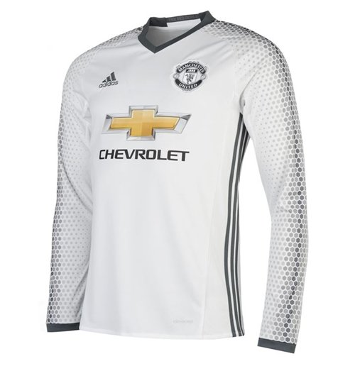 2016-2017 Man Utd Adidas Third Long Sleeve Shirt (Kids)