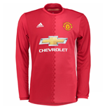2016-2017 Man Utd Adidas Home Long Sleeve Shirt (Kids)