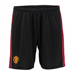 2016-2017 Man Utd Adidas Home Goalkeeper Shorts (Black)