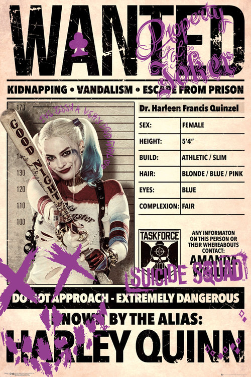Suicide Squad Harley Wanted Maxi Poster