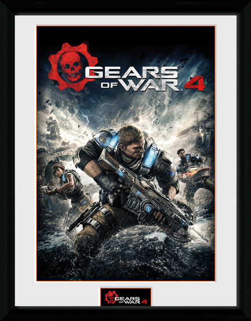 Gears Of War 4 Game Cover Framed Collector Print