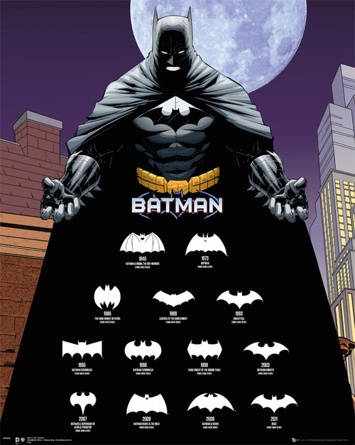 Batman Logos Mini Poster