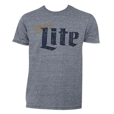 miller lite vintage tee shirt for only at