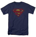 SUPERMAN Cracked Logo Men's Tshirt