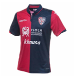 2016-2017 Cagliari Authentic Home Match Shirt