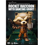 Guardians of the Galaxy Egg Attack Action Figure Rocket Raccoon with Dancing Groot 10 cm