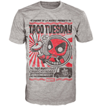 Marvel Comics POP! Tees T-Shirt Deadpool Taco Tuesday