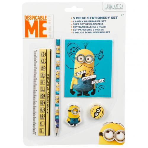 Despicable Me 5pc Stationery Set Minions